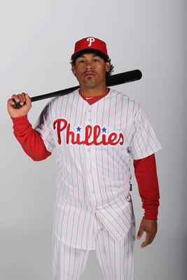 CLEARWATER, FL - FEBRUARY 22:  Delwyn Young #24 of the Philadelphia Phillies poses for a photo during Spring Training Media Photo Day at Bright House Networks Field on February 22, 2011 in Clearwater, Florida.  (Photo by Nick Laham/Getty Images)