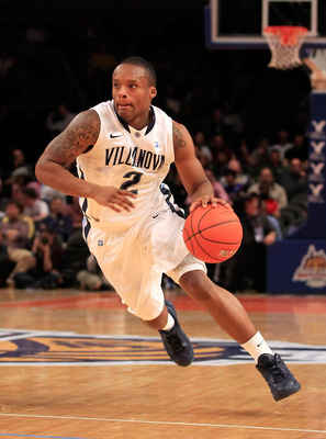 NEW YORK, NY - MARCH 08:  Maalik Wayns #2 of the Villanova Wildcats dribbles the ball against the South Florida Bulls during the first round of the 2011 Big East Men's Basketball Tournament presented by American Eagle Outfitters at Madison Square Garden o
