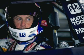 5 Mar 1999:  Rusty Wallace #2 sitting in his car during practice for the Las Vegas 400 of the NASCAR Winston Cup Series at the Las Vegas Motor Speedway in Las Vegas, Nevada. Mandatory Credit: Jon Ferrey  /Allsport