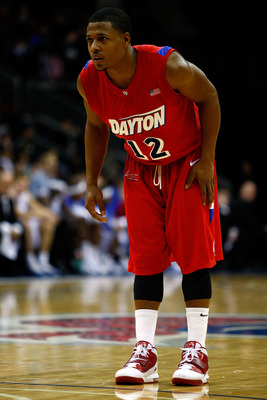 NEWARK, NJ - DECEMBER 22:  Josh Parker #12 of Paul Williams looks on against the Seton Hall Pirates against the Dayton Flyers at Prudential Center on December 22, 2010 in Newark, New Jersey. Dayton won 69-65. (Photo by Chris Chambers/Getty Images)