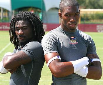 Clinton-Dix (right) with his partner-in-crime Demetrius Hart (left).