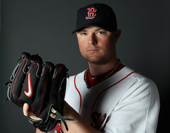 FT. MYERS, FL - FEBRUARY 20:  Jon Lester #31 of the Boston Red Sox poses for a portrait during the Boston Red Sox Photo Day on February 20, 2011 at the Boston Red Sox Player Development Complex in Ft. Myers, Florida  (Photo by Elsa/Getty Images)