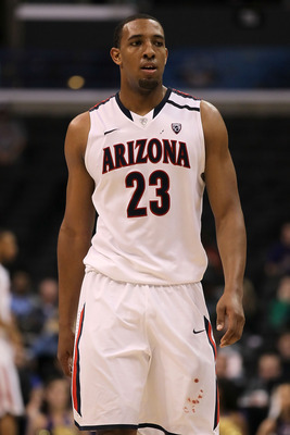 LOS ANGELES, CA - MARCH 12:  Derrick Williams #23 of the Arizona Wildcats looks on while taking on the Washington Huskies in the championship game of the 2011 Pacific Life Pac-10 Men's Basketball Tournament at Staples Center on March 12, 2011 in Los Angel