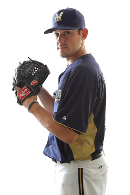 MARYVALE, AZ - FEBRUARY 24:  Mark Rogers #37 of the Milwaukee Brewers poses for a portrait during Spring Training Media Day on February 24, 2011 at Maryvale Stadium in Maryvale, Arizona.  (Photo by Jonathan Ferrey/Getty Images)