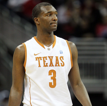 KANSAS CITY, MO - MARCH 10:  Jordan Hamilton #3 of the Texas Longhorns stands on the court during their quarterfinal game against the Oklahoma Sooners in the 2011 Phillips 66 Big 12 Men's Basketball Tournament at Sprint Center on March 10, 2011 in Kansas