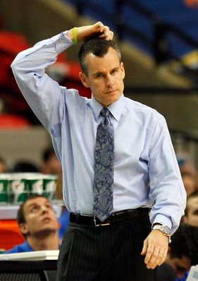 ATLANTA, GA - MARCH 12:  Head coach Billy Donovan of the Florida Gators looks on during their game against the Vanderbilt Commodores in the semifinals of the SEC Men's Basketball Tournament at Georgia Dome on March 12, 2011 in Atlanta, Georgia.  (Photo by