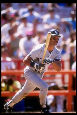 14 Jul 1991:  Infielder Don Mattingly of the New York Yankees in action during a game against the California Angels at Anaheim Stadium in Anaheim, California. Mandatory Credit: Stephen Dunn  /Allsport
