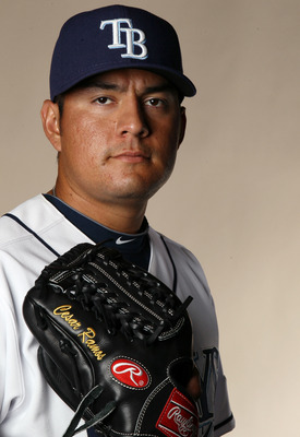 FT. MYERS, FL - FEBRUARY 22:  :  Cesar Ramos #55 of the Tampa Bay Rays poses for a portrait during the Tampa Bay Rays Photo Day on February 22, 2011 at the Charlotte Sports Complex in Port Charlotte, Florida.  (Photo by Elsa/Getty Images)