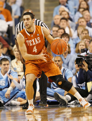 GREENSBORO, NC - DECEMBER 18:  Dogus Balbay #4 of the Texas Longhorns against the North Carolina Tar Heels at Greensboro Coliseum on December 18, 2010 in Greensboro, North Carolina.  (Photo by Kevin C. Cox/Getty Images)
