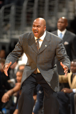 WASHINGTON, DC - FEBRUARY 5:  Head coach John Thompson III of the Georgetown Hoyas reacts to call during a college basketball game against the Providence Friars on February 5, 2011 at the Verizon Center in Washington, DC.  The Hoyas won 83-81.  (Photo by