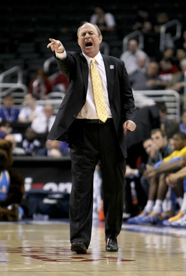 LOS ANGELES - MARCH 12:  Head coach Ben Howland of the UCLA Bruins shouts instructions during the game with the California Golden Bears during the semifinals of the Pac-10 Basketball Tournament at Staples Center on March 12, 2010 in Los Angeles, Californi