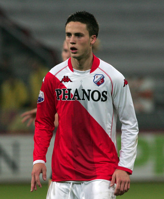 UTRECHT, NETHERLANDS - OCTOBER 23:  Ricky van Wolfswinkel of FC Utrecht during the Eredivisie match between FC Utrecht and Roda JC held on October 23, 2009 at the Stadion Galgenwaard, in Utrecht, Holland. (Photo by Anoek De Groot/EuroFootball/Getty Images