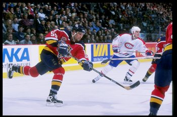 22 Oct 1997: Defenseman Ed Jovanovski of the Florida Panthers in action on the ice during a game against the Montreal Canadiens at the Molson Center in Montreal, Canada. The Canadiens won the game 3-0.