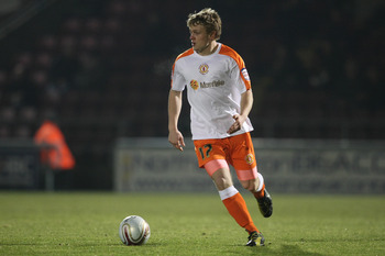 NORTHAMPTON, ENGLAND - FEBRUARY 1:  Danny Shelly of Crewe Alexandra in action during the npower League Two match between Northampton Town and Crewe Alexandra at Sixfields Stadium on February 1, 2011 in Northampton, England. (Photo by Pete Norton/Getty Ima