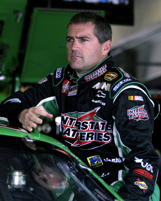FORT WORTH, TX - APRIL 16:  Bobby Labonte, driver of the #18 Interstate Batteries Chevrolet, during practice for the NASCAR Nextel Cup Samsung/Radioshack 500 April 16, 2005 at the Texas Motor Speedway in Fort Worth, Texas.  (Photo by  Gavin Lawrence/Getty