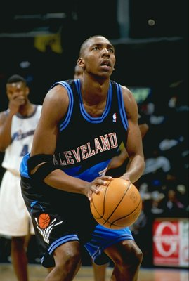 20 Mar 1999: Wesley Person #1 of the Cleveland Cavaliers shooting a free throw during the game against the Washington Wizards at the MCI Center in Washington, D.C. The Wizards defeated the Cavaliers 113-83.