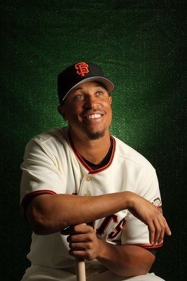 SCOTTSDALE, AZ - FEBRUARY 28:  Emmanuel Burriss of the San Francisco Giants poses during media photo day on February 28, 2010 at Scottsdale Stadium in Scottsdale, Arizona.  (Photo by Jed Jacobsohn/Getty Images)
