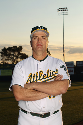 PHOENIX, AZ - FEBRUARY 24:  Manager Bob Geren of the Oakland Athletics poses for a portrait during media photo day at Phoenix Municipal Stadium on February 24, 2011 in Phoenix, Arizona.  (Photo by Ezra Shaw/Getty Images)