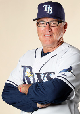 FT. MYERS, FL - FEBRUARY 22:  Joe Maddon #70 of the Tampa Bay Rays poses for a portrait during the Tampa Bay Rays Photo Day on February 22, 2011 at the Charlotte Sports Complex in Port Charlotte, Florida.  (Photo by Elsa/Getty Images)