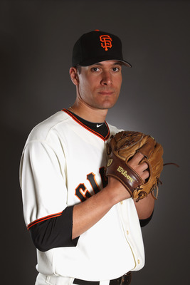 SCOTTSDALE, AZ - FEBRUARY 23:  Javier Lopez #49 of the San Francisco Giants poses for a portrait during media photo day at Scottsdale Stadium on February 23, 2011 in Scottsdale, Arizona.  (Photo by Ezra Shaw/Getty Images)