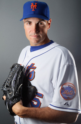 PORT ST. LUCIE, FL - FEBRUARY 24:  RY 24:  RY 24:  Chris Young #55 of the New York Mets poses for a portrait during the New York Mets Photo Day on February 24, 2011 at Digital Domain Park in Port St. Lucie, Florida.  (Photo by Elsa/Getty Images)