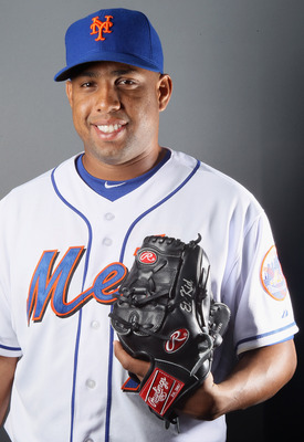 PORT ST. LUCIE, FL - FEBRUARY 24:  RY 24:  Francisco Rodriguez #75 of the New York Mets poses for a portrait during the New York Mets Photo Day on February 24, 2011 at Digital Domain Park in Port St. Lucie, Florida.  (Photo by Elsa/Getty Images)