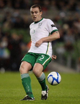 DUBLIN, IRELAND - FEBRUARY 08:  Richard Dunne of Ireland during the Carling Nations Cup between Republic of Ireland and Wales at Aviva Stadium on February 8, 2011 in Dublin, Ireland.  (Photo by Scott Heavey/Getty Images)