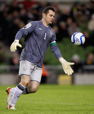 DUBLIN, IRELAND - FEBRUARY 08:  Shay Given of Ireland in action during the Carling Nations Cup match between Republic of Ireland and Wales at Aviva Stadium on February 8, 2011 in Dublin, Ireland.  (Photo by Scott Heavey/Getty Images)