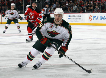 NEWARK, NJ - JANUARY 04: Patrick O'Sullivan #19 of the Minnesota Wild skates against the New Jersey Devils at the Prudential Center on January 4, 2011 in Newark, New Jersey. The Wild defeated the Devils 2-1.  (Photo by Bruce Bennett/Getty Images)
