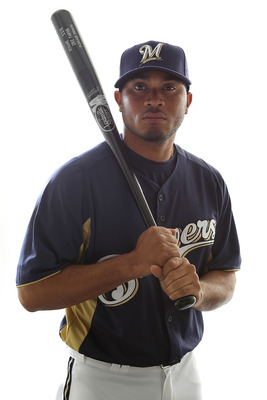 MARYVALE, AZ - FEBRUARY 24:  Eric Farris #63 of the Milwaukee Brewers poses for a portrait during Spring Training Media Day on February 24, 2011 at Maryvale Stadium in Maryvale, Arizona.  (Photo by Jonathan Ferrey/Getty Images)