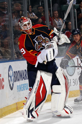 SUNRISE, FL - MARCH 10: Tomas Vokoun #29 of the Florida Panthers skates against the Ottawa Senators at the BankAtlantic Center on March 10, 2011 in Sunrise, Florida.  (Photo by Bruce Bennett/Getty Images)