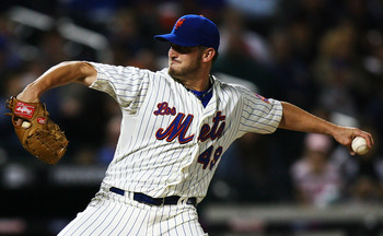 NEW YORK - SEPTEMBER 17:  Jonathon Niese #49 of the New York Mets pitches against the Atlanta Braves on September 17, 2010 at Citi Field in the Flushing neighborhood of the Queens borough of New York City.  (Photo by Andrew Burton/Getty Images)