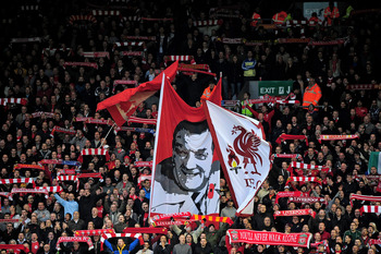 LIVERPOOL, ENGLAND - NOVEMBER 07:  General View of the Kop prior to the Barclays Premier League match between Liverpool and Chelsea at Anfield on November 7, 2010 in Liverpool, England. (Photo by Shaun Botterill/Getty Images)