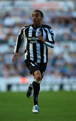 NEWCASTLE UPON TYNE, ENGLAND - SEPTEMBER 11:  Newcastle player James Perch in action during the Barclays Premier League match between Newcastle United and Blackpool at St James' Park on September 11, 2010 in Newcastle upon Tyne, England.  (Photo by Stu Fo