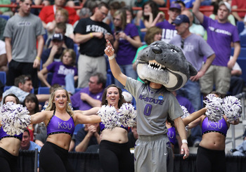 TUCSON, AZ - MARCH 17:  The Kansas State Wildcats mascot performs as they play the Utah State Aggies during the second round of the 2011 NCAA men's basketball tournament at McKale Center on March 17, 2011 in Tucson, Arizona.  (Photo by Christian Petersen/
