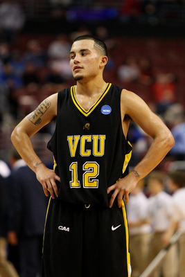 PHILADELPHIA - MARCH 19:  Joey Rodriguez #12 of the VCU Rams looks on during the game against the UCLA Bruins during the first round of the NCAA Division I Men's Basketball Tournament at the Wachovia Center on March 19, 2009 in Philadelphia, Pennsylvania.