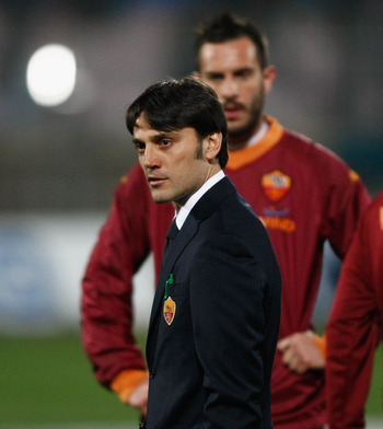 A young an inexperienced coach Vincenzo Montella