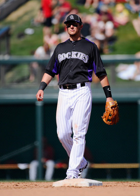 SCOTTSDALE, AZ - MARCH 14: Troy Tulowitzki #2 of the Colorodo Rockies against the Cincinnati Reds  during the spring training baseball game at Salt River Fields at Talking Stick on March 14, 2011 in Scottsdale, Arizona.  (Photo by Kevork Djansezian/Getty