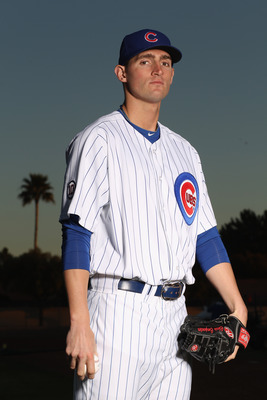 MESA, AZ - FEBRUARY 22:  Chris Carpenter #60 of the Chicago Cubs poses for a portrait during media photo day at Finch Park on February 22, 2011 in Mesa, Arizona.  (Photo by Ezra Shaw/Getty Images)