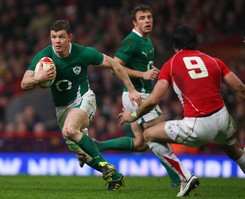 CARDIFF, WALES - MARCH 12:  Ireland captain Brian O' Driscoll in action during the RBS Six Nations Championship match between Wales and Ireland at the Millennium Stadium on March 12th, 2011 in Cardiff, Wales.  (Photo by Stu Forster/Getty Images)
