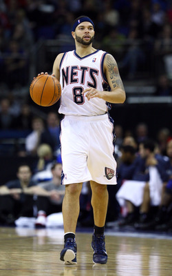 LONDON, ENGLAND - MARCH 04:  Deron Williams of the Nets in action during the NBA match between New Jersey Nets and the Toronto Raptors at the O2 Arena on March 4, 2011 in London, England. NOTE TO USER: User expressly acknowledges and agrees that, by downl