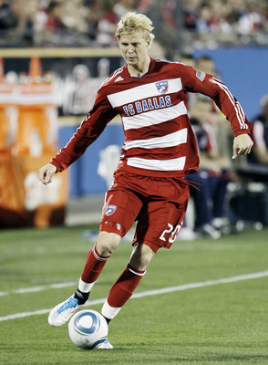 FRISCO, TX - MARCH 19: Brek Shea #20 of FC Dallas during a MLS game against the Chicago Fire at Pizza Hut Park on March 19, 2011 in Frisco, Texas. (Photo by Brandon Wade/Getty Images)
