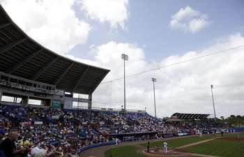 PORT ST. LUCIE, FL - MARCH 03: A general view as the St. Louis Cardinals play against the New York Mets at Digital Domain Park on March 3, 2011 in Port St. Lucie, Florida.  (Photo by Marc Serota/Getty Images)