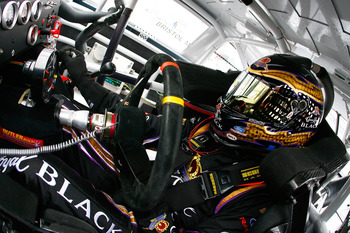 BRISTOL, TN - MARCH 18:  Matt Kenseth, driver of the #17 Crown Royal Black Ford, sits in his car during practice for the NASCAR Sprint Cup Series Jeff Byrd 500 Presented By Food City at Bristol Motor Speedway on March 18, 2011 in Bristol, Tennessee.  (Pho