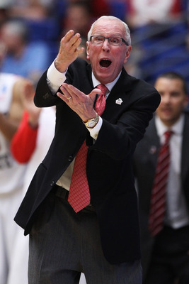 TUCSON, AZ - MARCH 19:  Head coach Steve Fisher of the San Diego State Aztecs yells to his team during their game against the Temple Owls during the third round of the 2011 NCAA men's basketball tournament at McKale Center on March 19, 2011 in Tucson, Ari