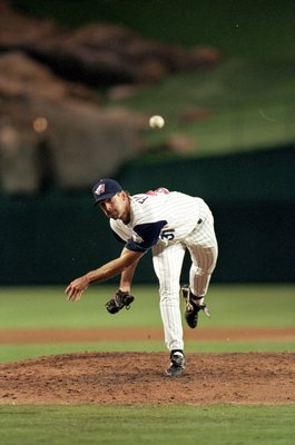 5 Aug 1999: Chuck Finley #31of the Anaheim Angels pitches the ball during a game against the Boston Red Sox  at the Edison Field in Anaheim, California. The Angels defeated the Red Sox 8-0Mandatory Credit: Tom Hauck  /Allsport