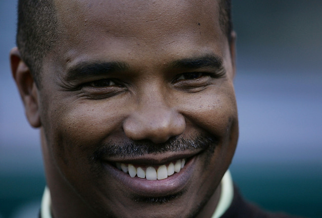 CLEVELAND - SEPTEMBER 30:  General Manager Kenny Williams of the Chicago White Sox smiles while talking to members of the media before his team takes on the Cleveland Indians on September 30, 2005 at Jacobs Field in Cleveland, Ohio.  (Photo by Jonathan Da