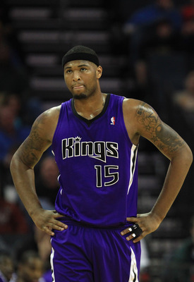 CHARLOTTE, NC - FEBRUARY 25:  DeMarcus Cousins #15 of the Sacramento Kings walks down the court against the Charlotte Bobcats during their game at Time Warner Cable Arena on February 25, 2011 in Charlotte, North Carolina. NOTE TO USER: User expressly ackn