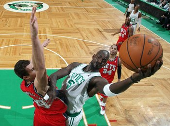 Kris Humphries, toe-to-toe with Kevin Garnett.