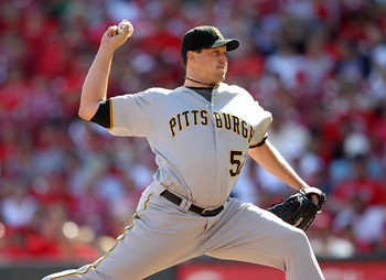 CINCINNATI - SEPTEMBER 12:  Joel Hanrahan #52 of the Pittsburgh Pirates throws a pitch during the game against the Cincinnati Reds at Great American Ballpark on September 12, 2010 in Cincinnati, Ohio.  (Photo by Andy Lyons/Getty Images)